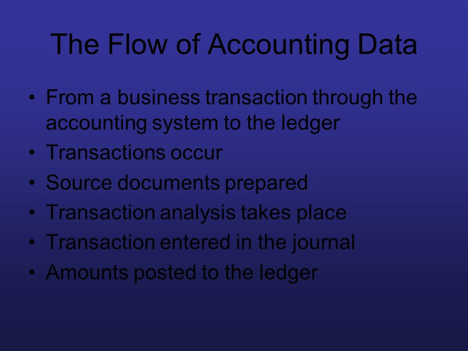 The Flow of Accounting Data