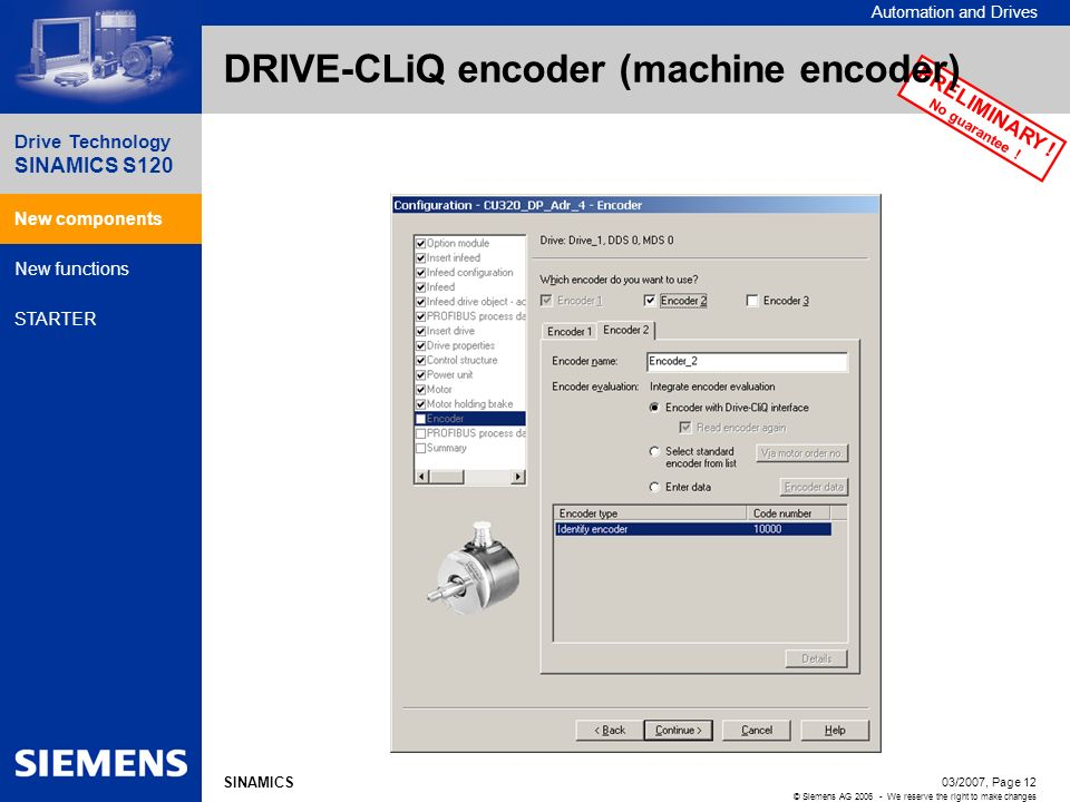 DRIVE-CLiQ encoder (machine encoder)