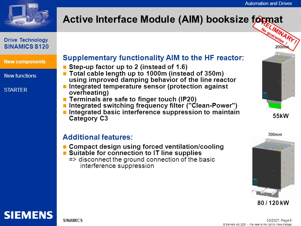 Active Interface Module (AIM) booksize format