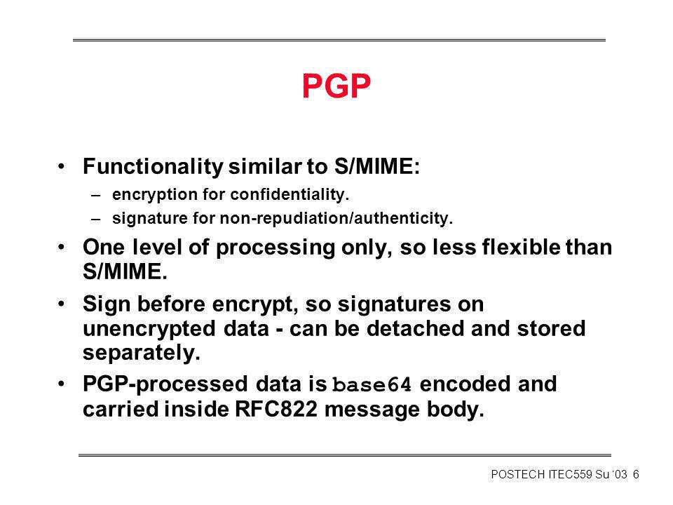 PGP Functionality similar to S/MIME: