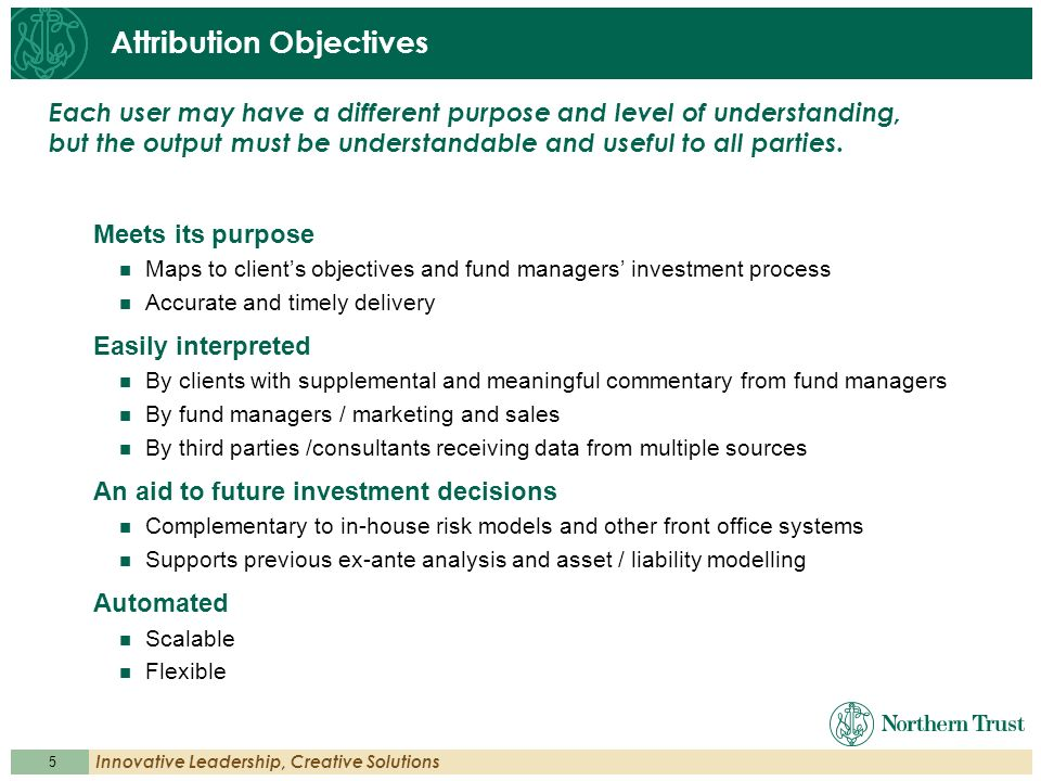 Attribution Objectives
