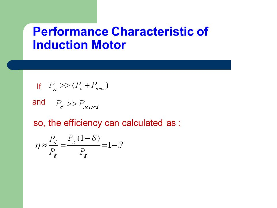 Performance Characteristic of Induction Motor