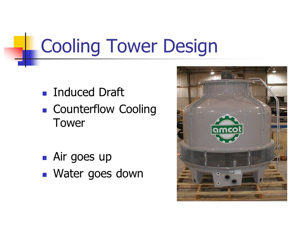 Cooling Tower Design Induced Draft Counterflow Cooling Tower