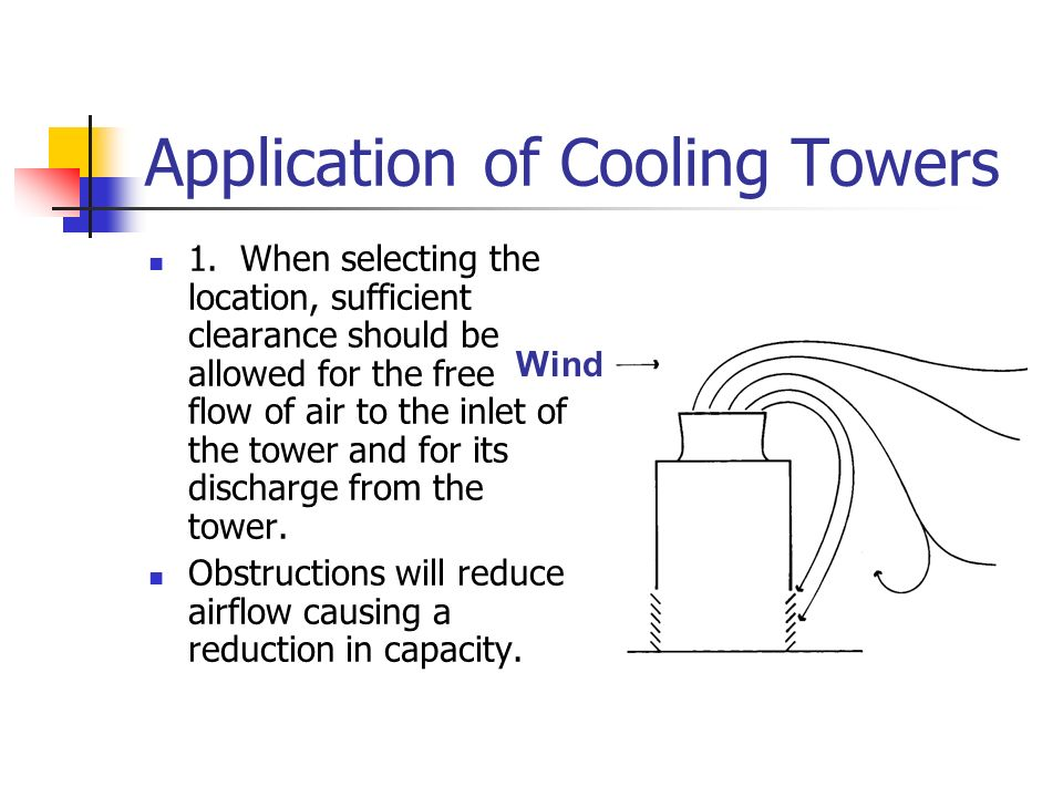 Application of Cooling Towers