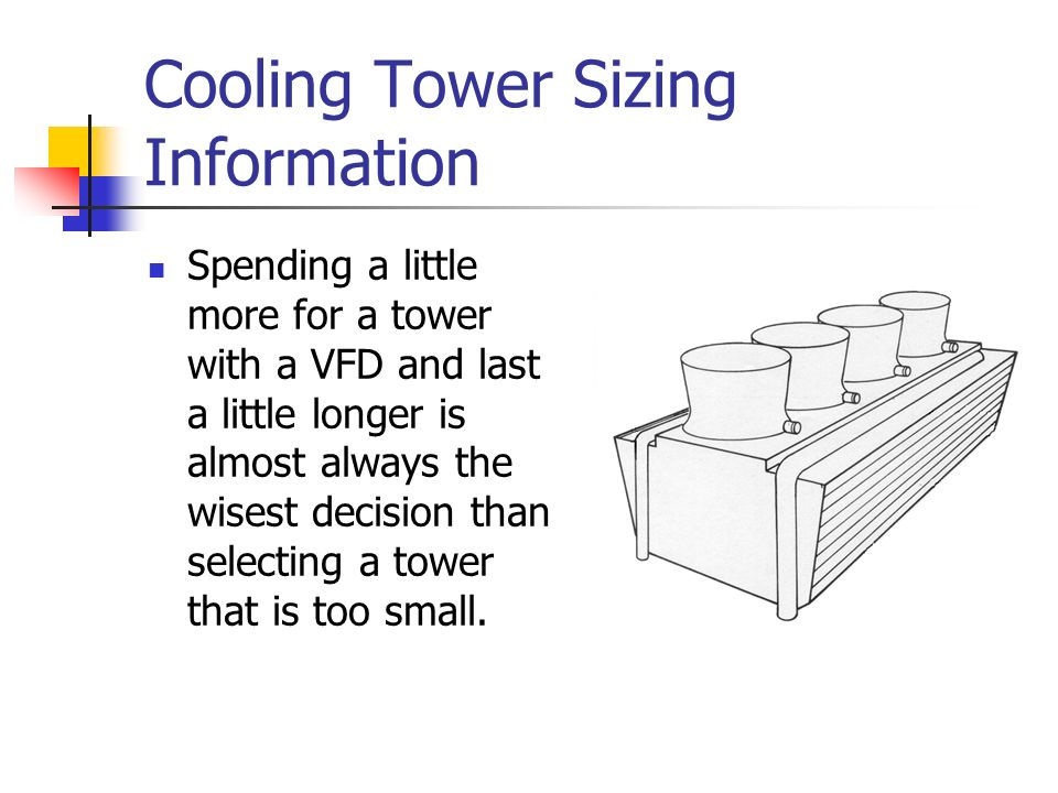 Cooling Tower Sizing Information