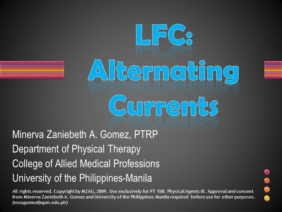 LFC: Alternating Currents