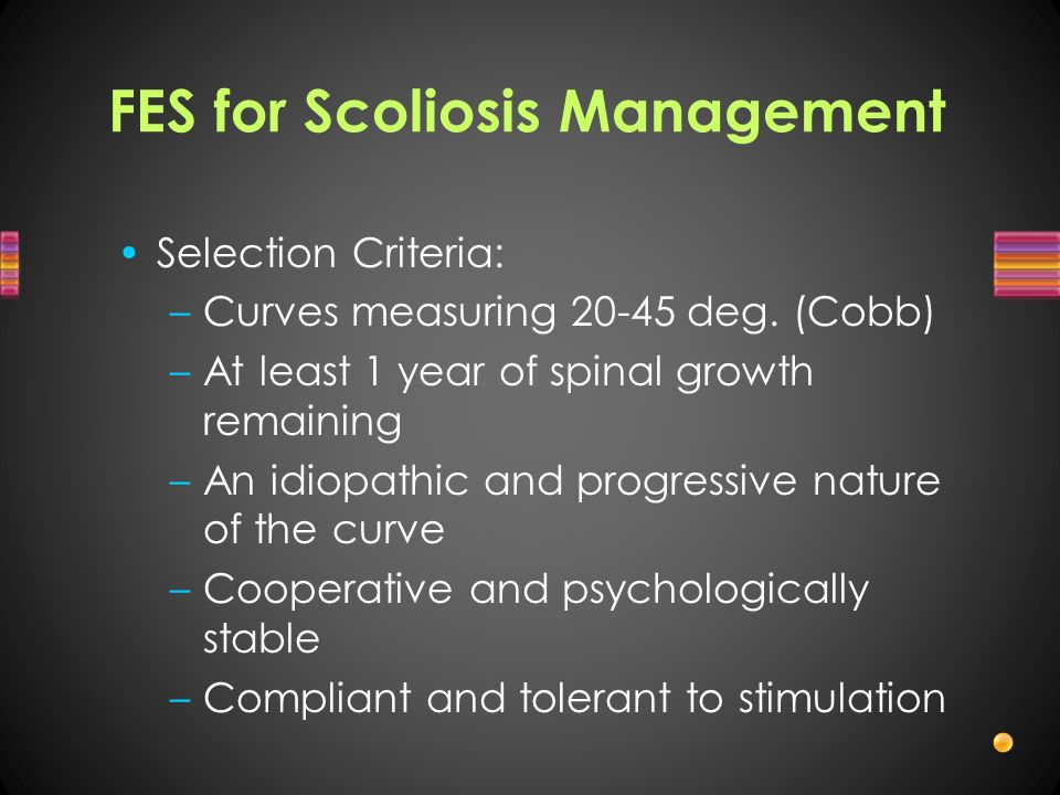 FES for Scoliosis Management