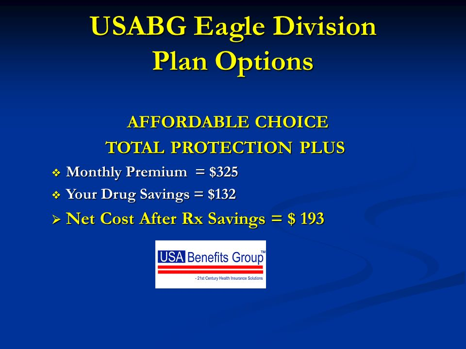 USABG Eagle Division Plan Options