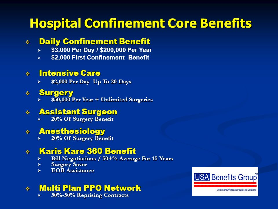 Hospital Confinement Core Benefits
