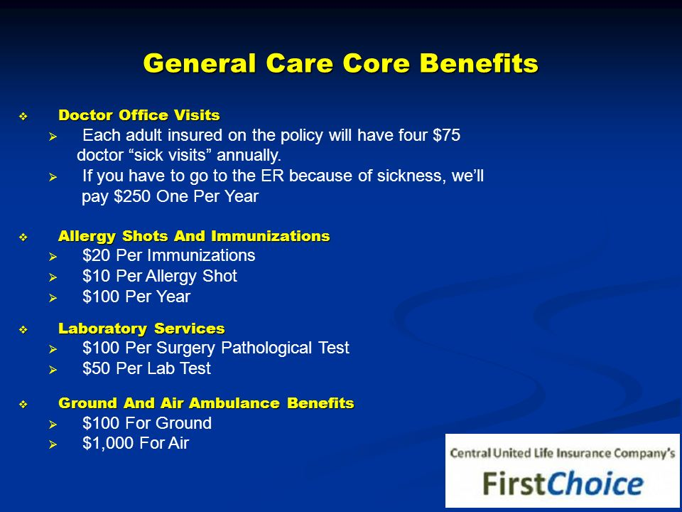 General Care Core Benefits