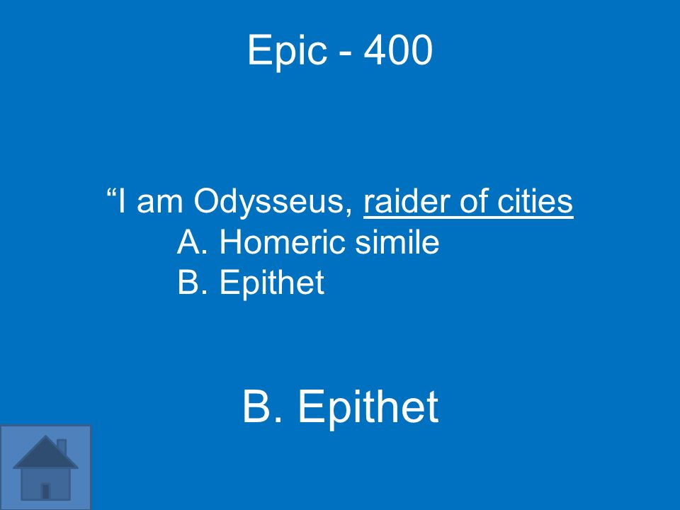 I am Odysseus, raider of cities