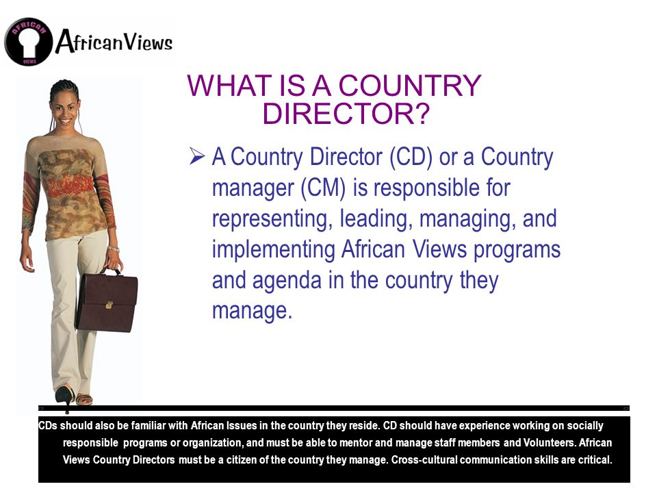 WHAT IS A COUNTRY DIRECTOR