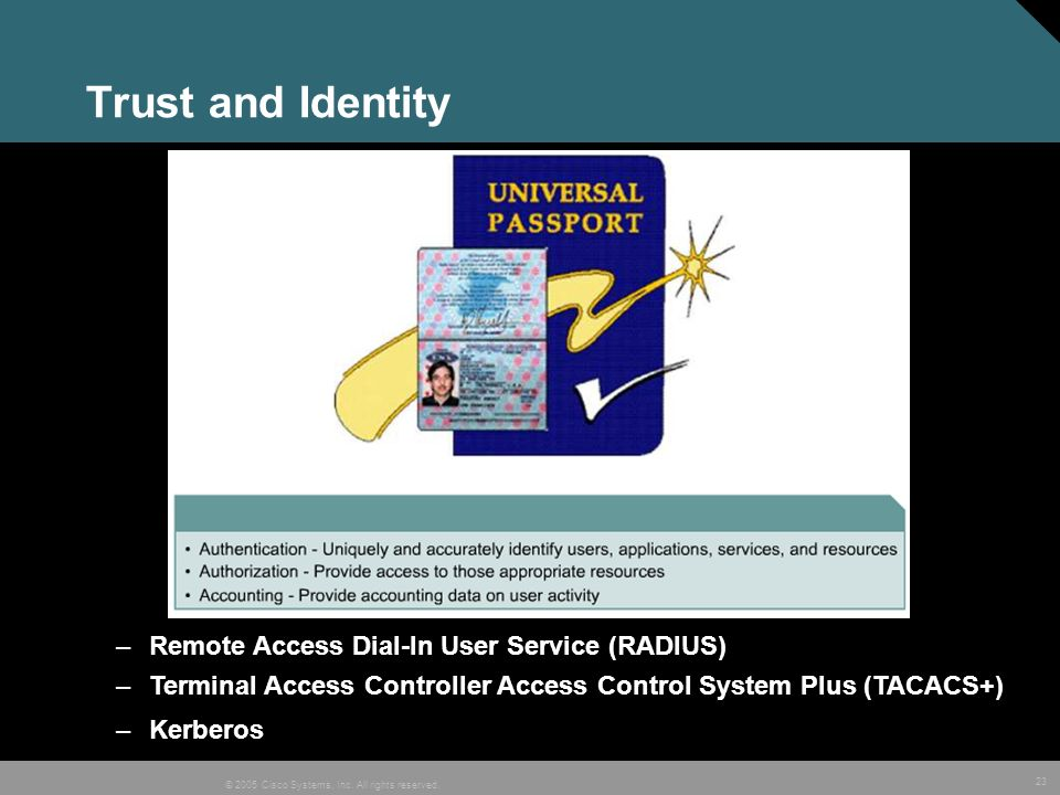Trust and Identity Remote Access Dial-In User Service (RADIUS)