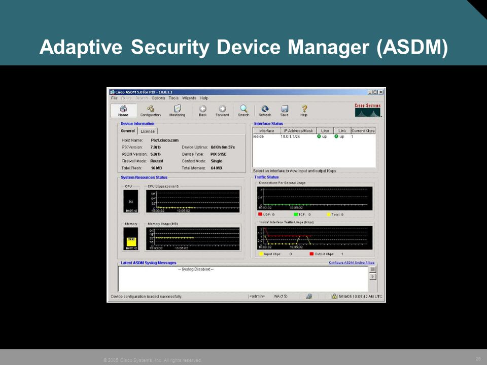 Adaptive Security Device Manager (ASDM)