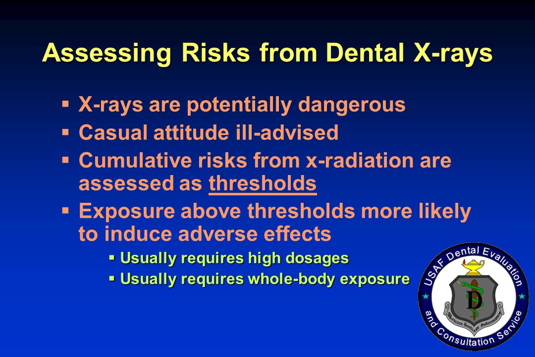 Assessing Risks from Dental X-rays