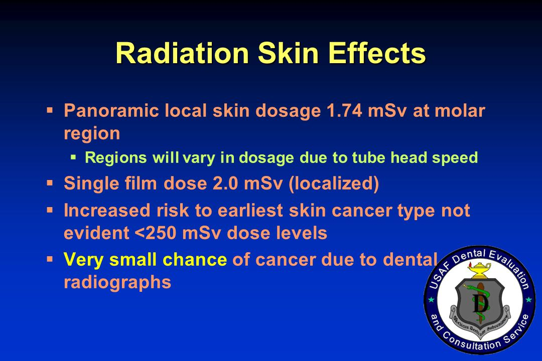 Radiation Skin Effects