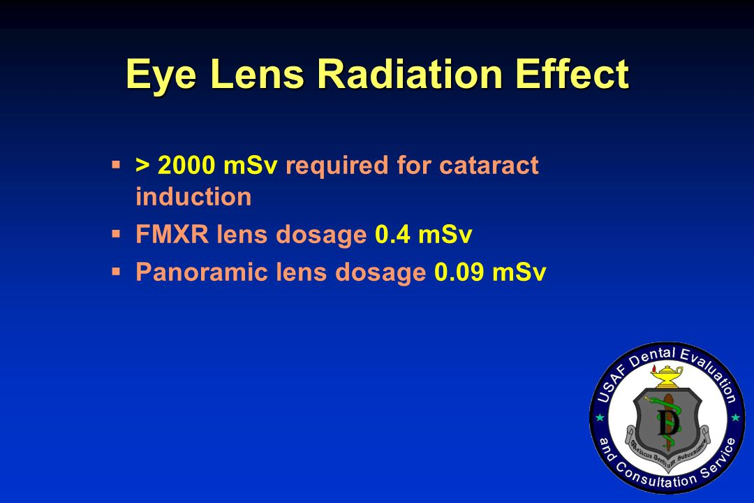 Eye Lens Radiation Effect