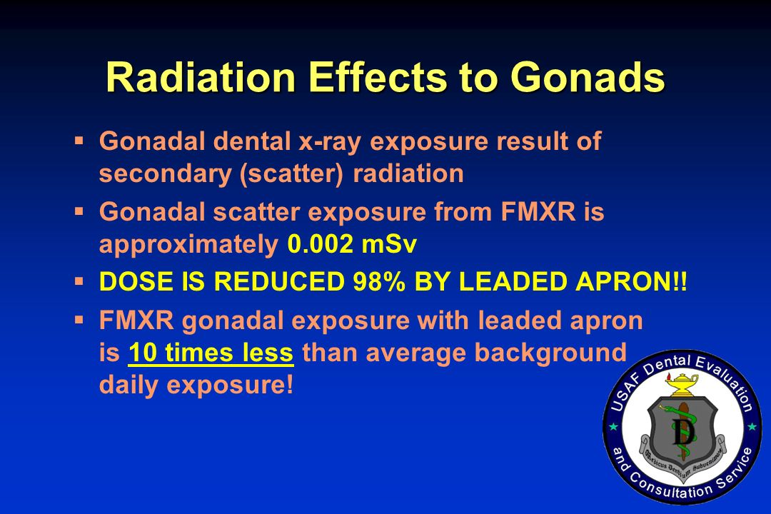 Radiation Effects to Gonads