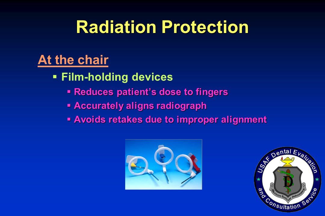 Radiation Protection At the chair Film-holding devices