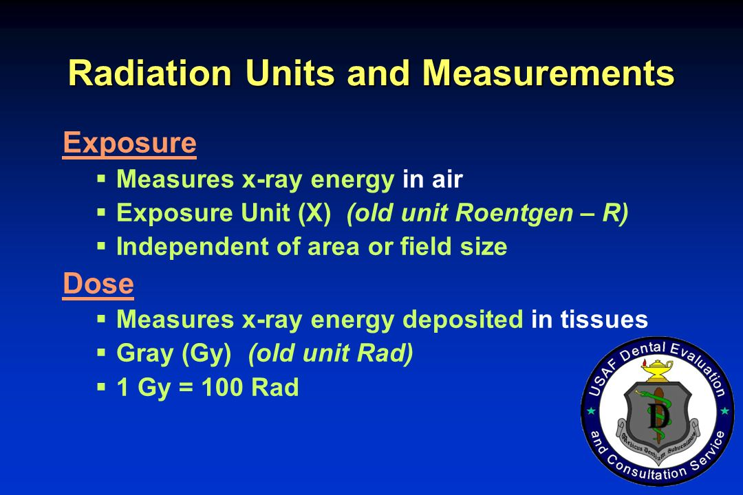 Radiation Units and Measurements