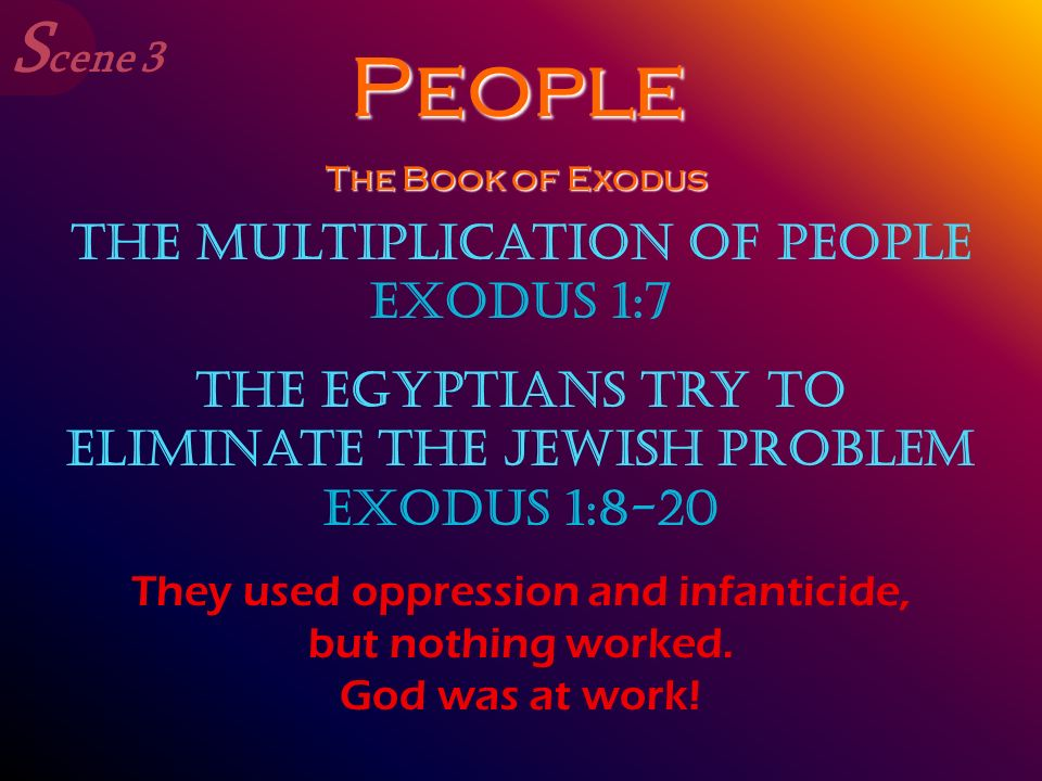 People Scene 3 The Multiplication of People Exodus 1:7
