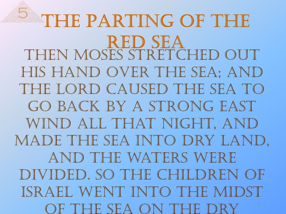 The Parting of the Red Sea