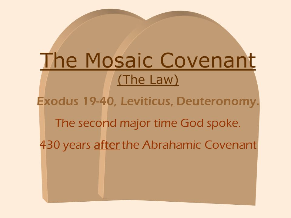 The Mosaic Covenant (The Law)