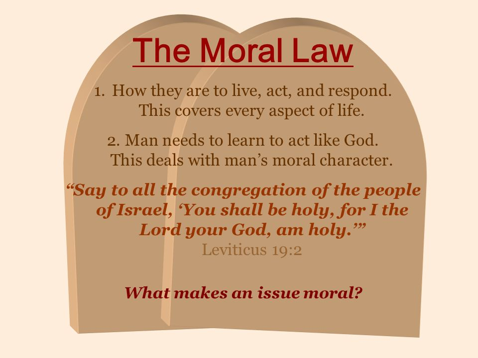 What makes an issue moral