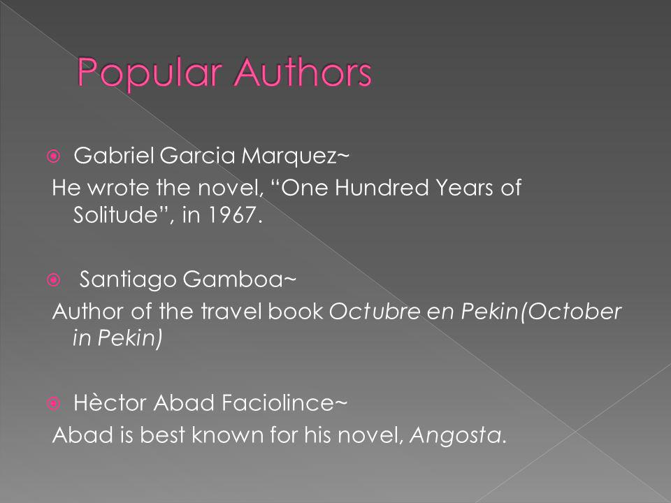 Popular Authors Gabriel Garcia Marquez~