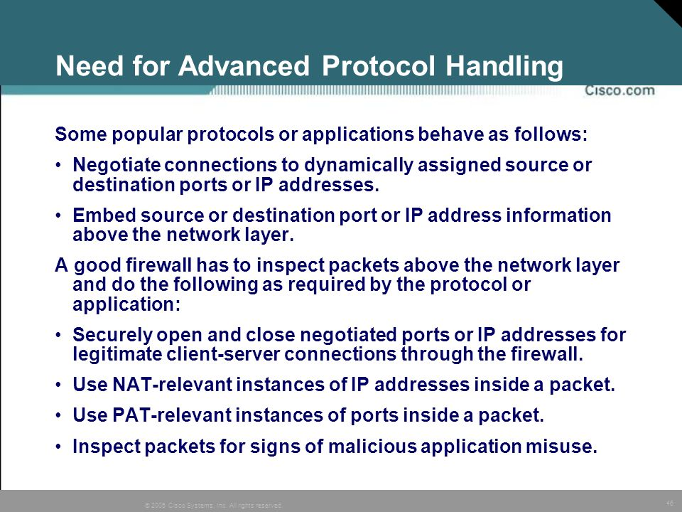 Need for Advanced Protocol Handling