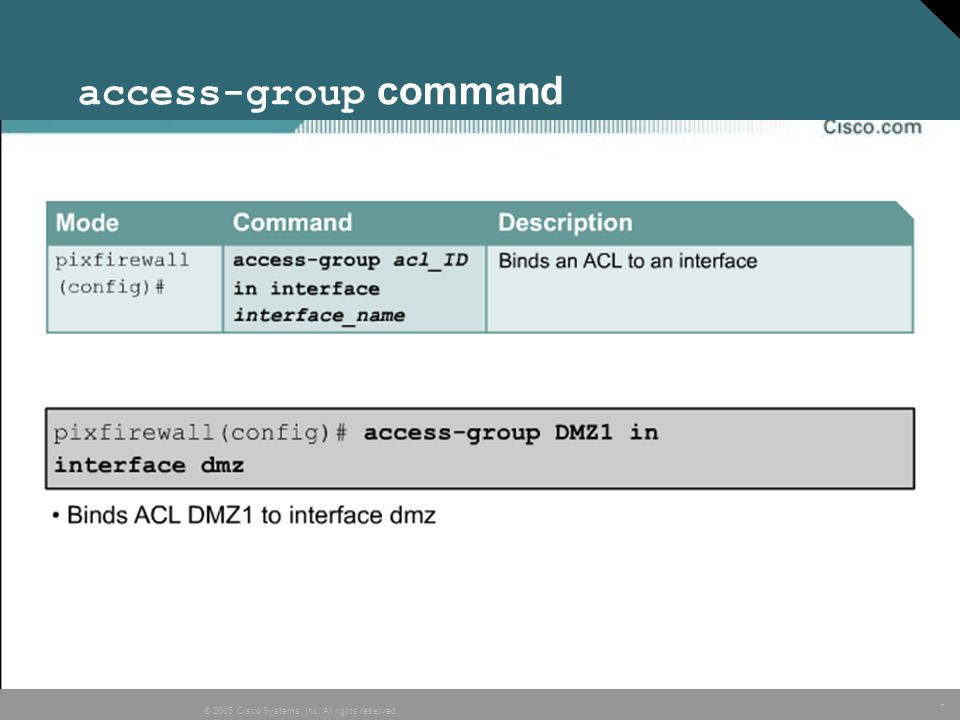 access-group command