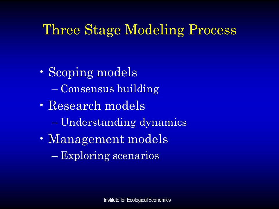Three Stage Modeling Process