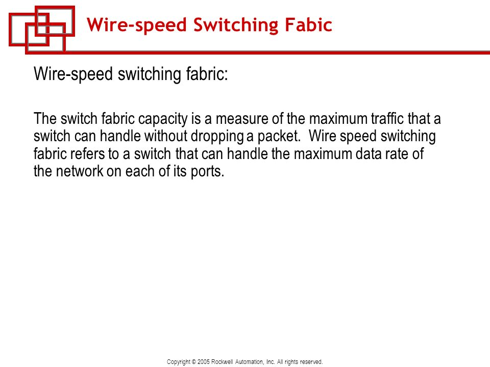 Wire-speed Switching Fabic