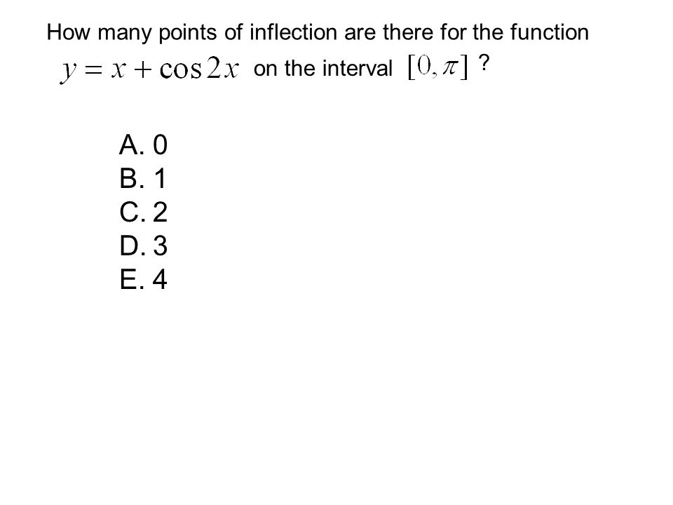 How many points of inflection are there for the function