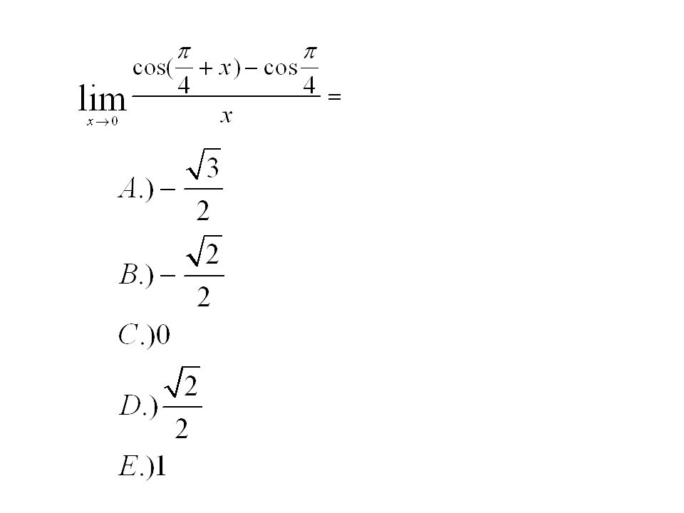 Limit definition of derivative