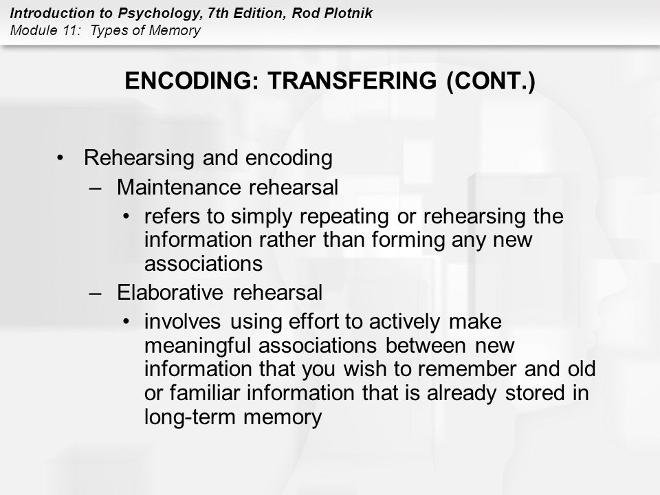 Rehearsal Psychology