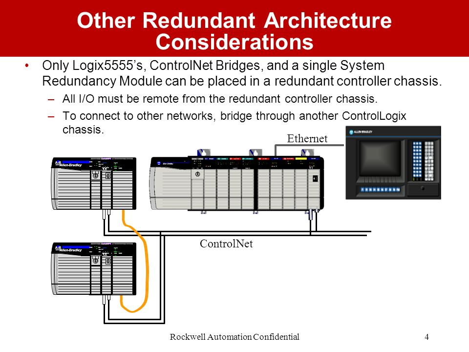 Other Redundant Architecture Considerations
