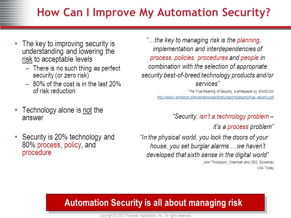How Can I Improve My Automation Security