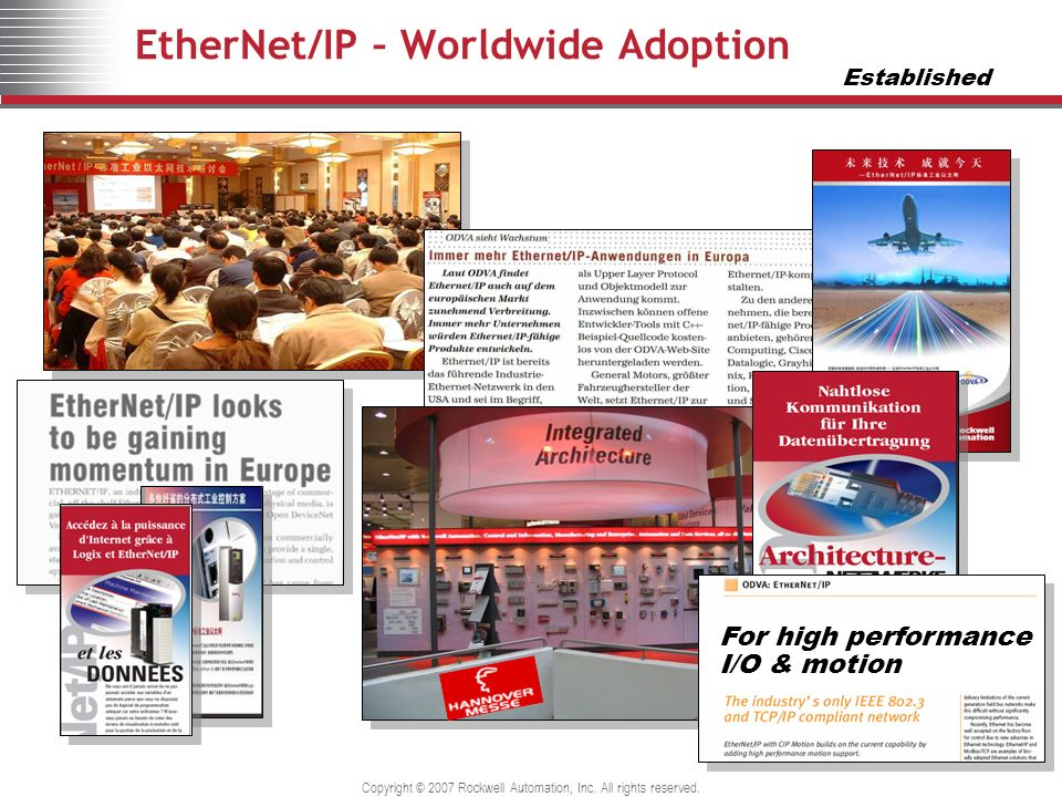 EtherNet/IP – Worldwide Adoption
