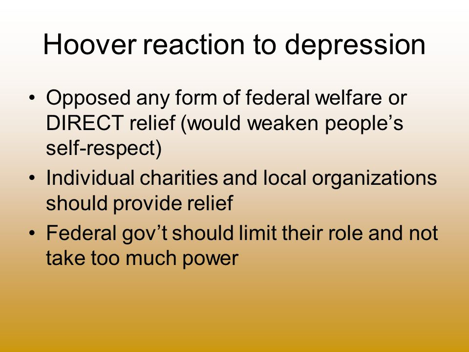 Hoover reaction to depression