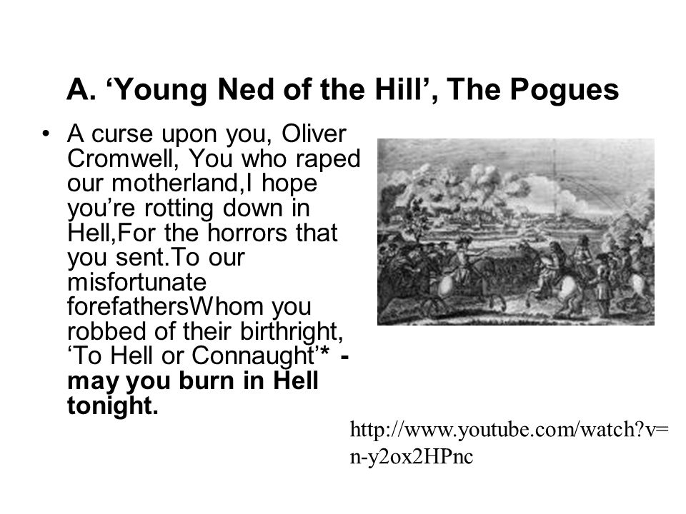 A. 'Young Ned of the Hill', The Pogues