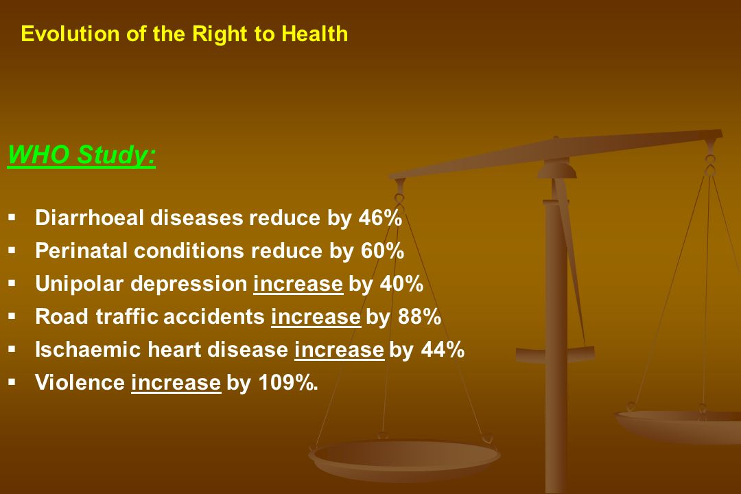 WHO Study: Evolution of the Right to Health