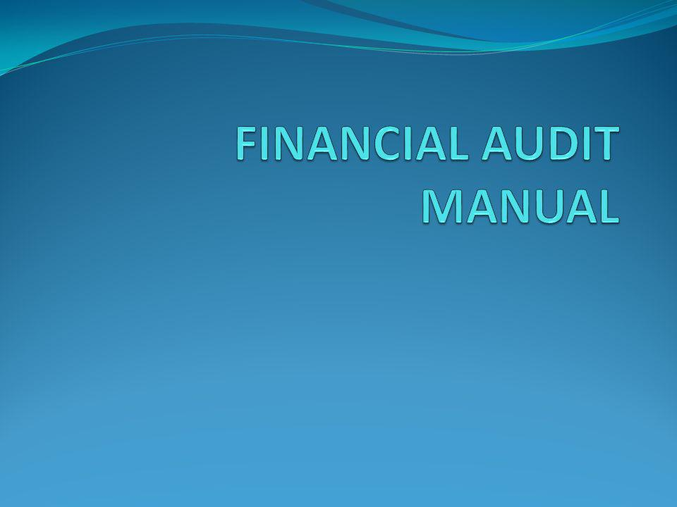 FINANCIAL AUDIT MANUAL