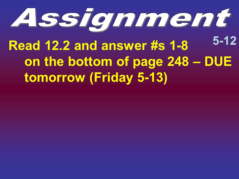 Assignment 5-12.