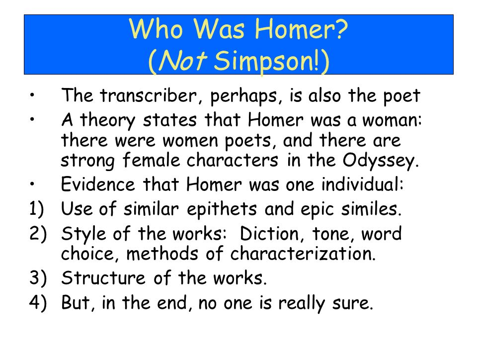 Who Was Homer (Not Simpson!)
