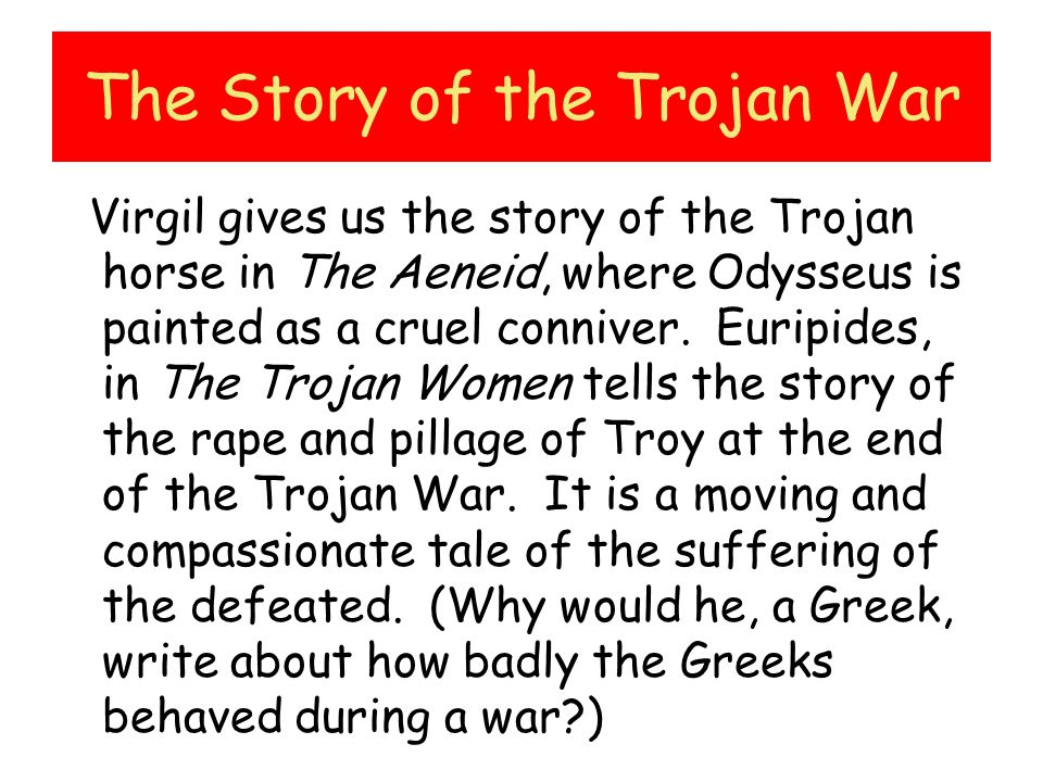 The Story of the Trojan War