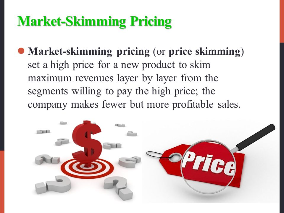 what is price skimming in marketing