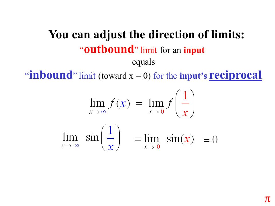 You can adjust the direction of limits: