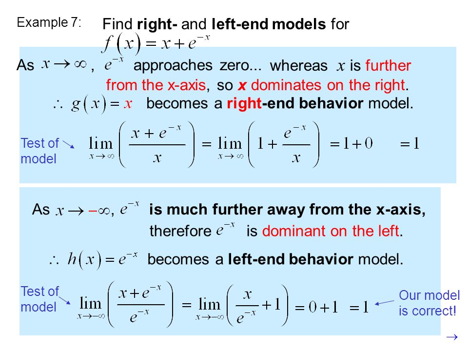 Find right- and left-end models for