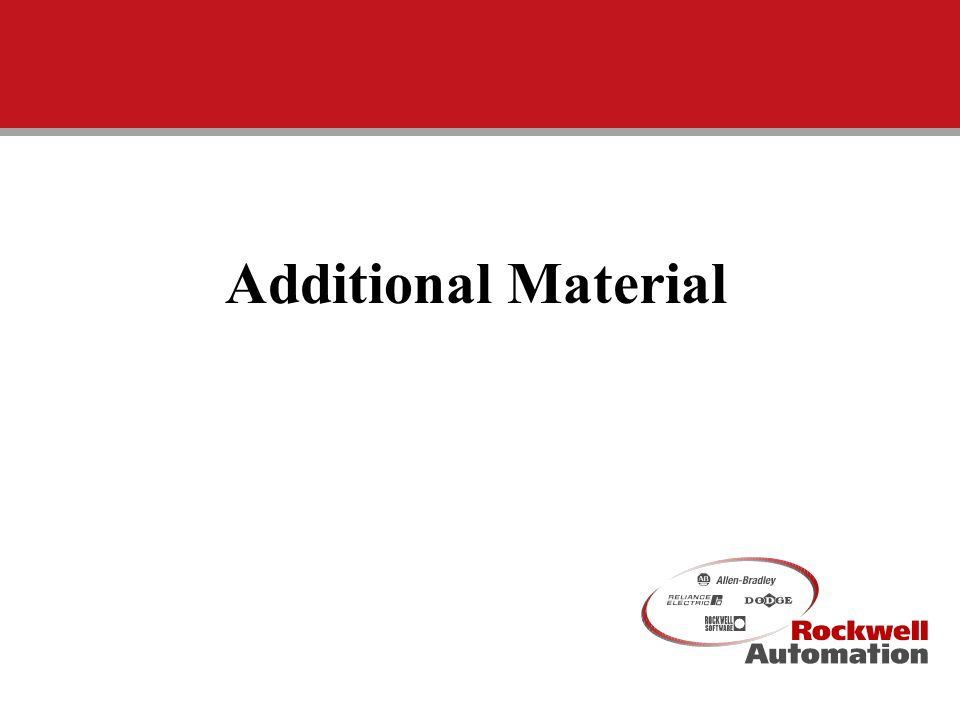 Additional Material CIG University III